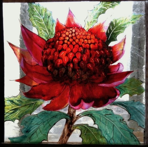 Painted waratah for Balmain