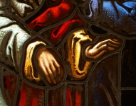 Detail of the hands