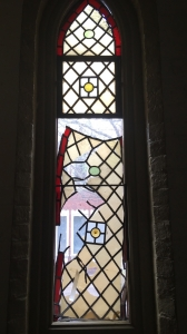 St Matthias window prior to restoration
