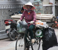 Recycling vendor, Saigon