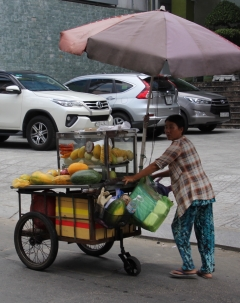 Fruit vendor, Saigon