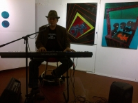 Tap Gallery's resident keyboardist