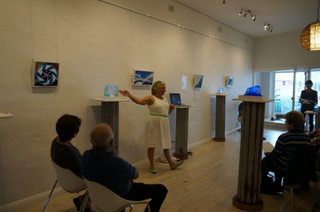 Discussing her work at a recent exhibition